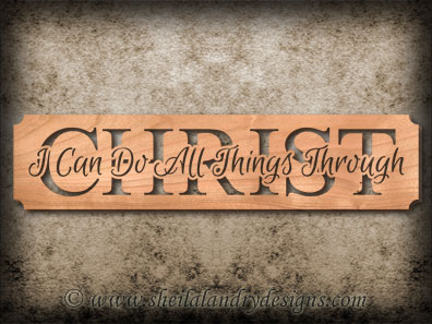 All Things Through Christ Scroll Saw Pattern