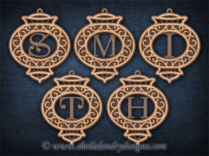 Alphabet Monogram Scroll Saw Pattern