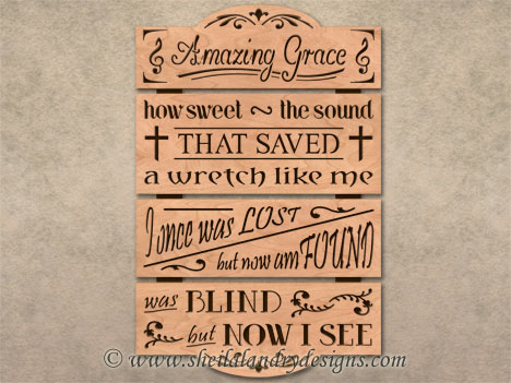 Amazing Grace Scroll Saw Pattern