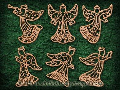 Angel Ornaments Scroll Saw Pattern