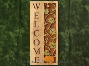 Autumn Scroll Saw Welcome Pattern