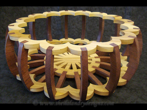 Barrel Basket Scroll Saw Pattern