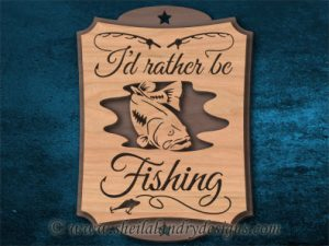 Bass Fishing Scroll Saw Pattern