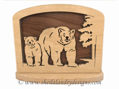 Bear Napkin Holder Scroll Saw Pattern