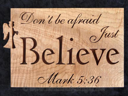 Believe Scroll Saw Bible Passage Pattern