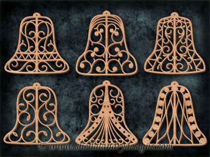 Bell Ornaments Silhouette Pattern
