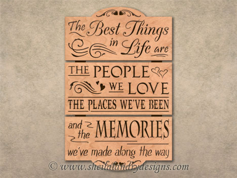 Best Things In Life Scroll Saw Pattern