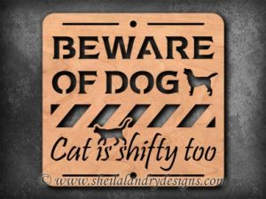 Beware Of Dog Scroll Saw Pattern