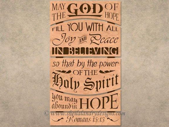 Bible Passage Laser Pattern