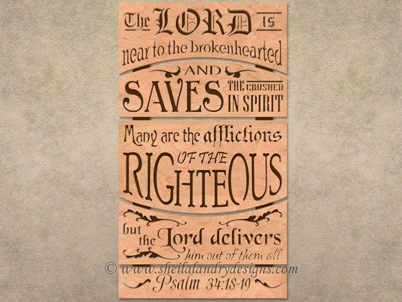 Bible Passage Scroll Saw Pattern