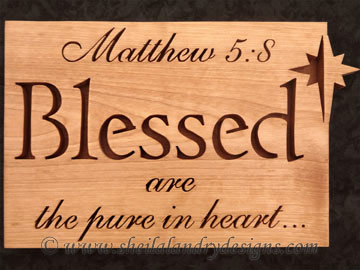 Blessed Scroll Saw Bible Passage Pattern