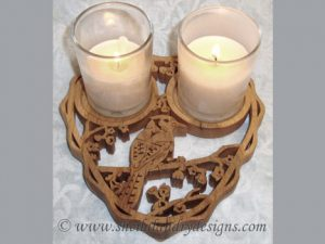 Blue Jay Candle Holder Scroll Saw Pattern