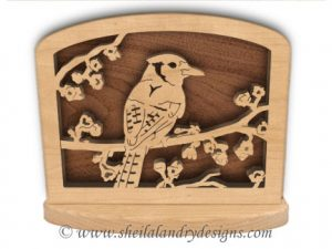 Blue Jay Napkin Holder