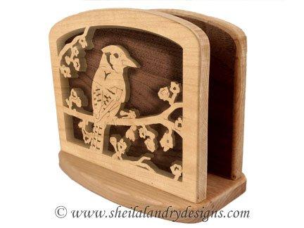 Blue Jay Napkin Holder Woodworking Plans