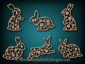 Bunnies Scroll Saw Ornament Pattern