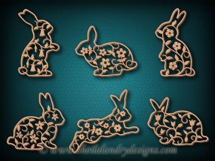Bunnies Scroll Saw Ornament Pattern