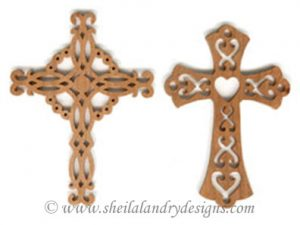 Cross Ornaments Scroll Saw Pattern
