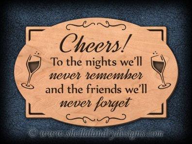 Cheers Scroll Saw Wine Pattern