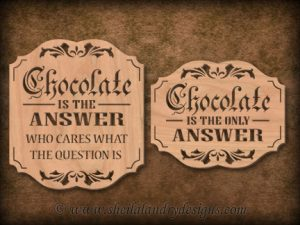 Chocolate Scroll Saw Pattern