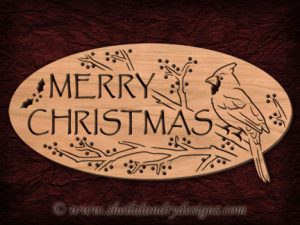 Christmas Cardinal Scroll Saw Pattern