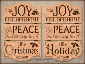 Christmas Joy Scroll Saw Template