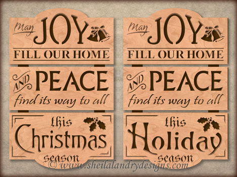 Christmas Joy Scroll Saw Template