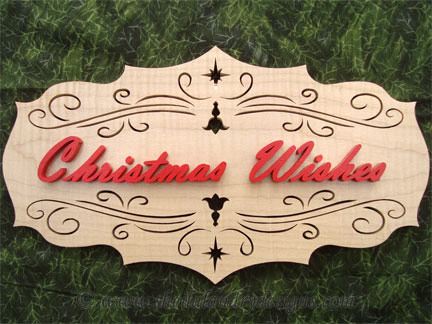 Christmas Wishes Scroll Saw Pattern