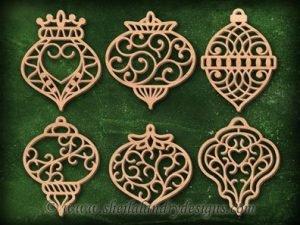 Classic Filigree Scroll Saw Ornaments