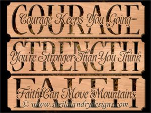 Courage Strength Faith Scroll Saw Patterns