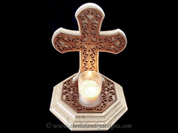 Cross Candle Scroll Saw Pattern