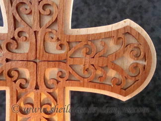 Cross Candle Scroll Saw Template