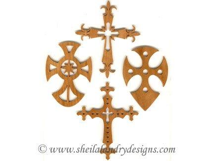 Cross Ornaments Laser Pattern