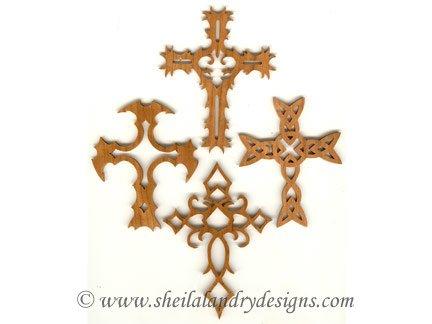 Cross Ornaments Scroll Saw Pattern