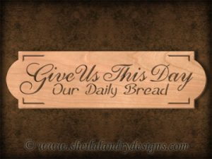 Daily Bread Scroll Saw Pattern