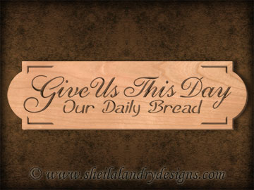 Daily Bread Scroll Saw Pattern