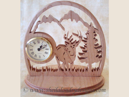 Deer Clock Laser Pattern