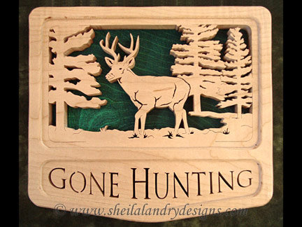 Deer Hunting Scroll Saw Pattern