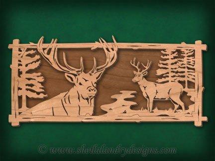 Deer Scene Laser Pattern