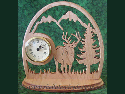Deer Scroll Saw Clock Pattern