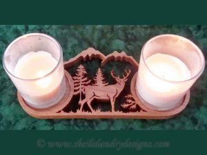 Deer Votive Candle Scroll Saw Pattern