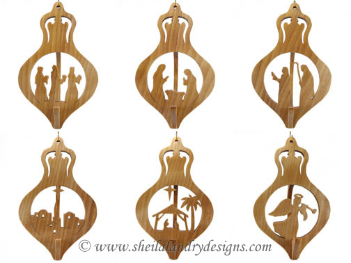 Nativity Scroll Saw Ornaments Pattern