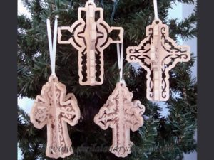 Dimensional Scroll Saw Cross Ornaments Pattern