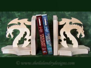 Dragon Book Ends Scroll Saw Pattern