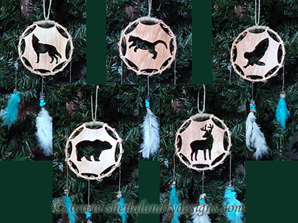 Dream Catcher Ornaments Laser Pattern