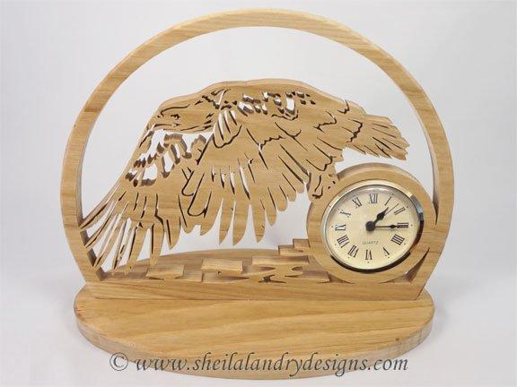 Eagle Scroll Saw Clock Pattern