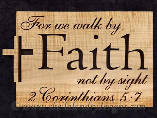 Faith Scroll Saw Bible Passage Pattern
