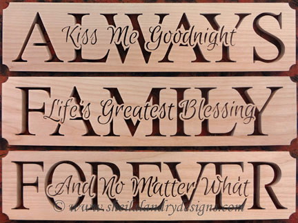 Family Forever Always Scroll Saw Pattern