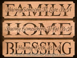 Scroll Saw Family Home Blessing Pattern