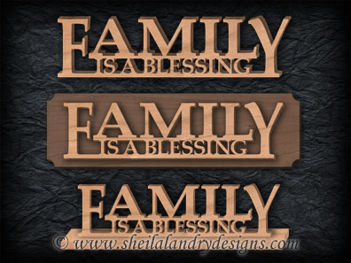 Family Is A Blessing Scroll Saw Pattern