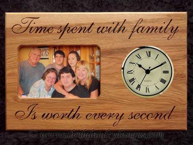 Family Scroll Saw Picture Frame